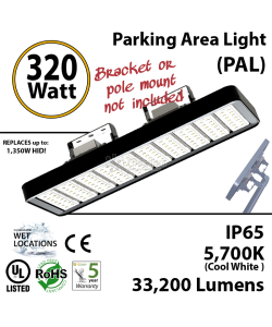 320w LED Lighting fixture replacement for up to 1500 watt HID or MH