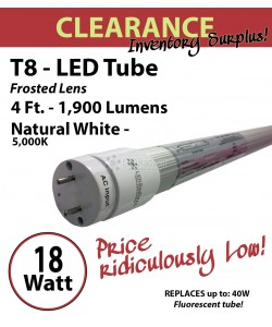 18W LED Tube Warehouse Factory Energy Efficient  Fluorescent Replacement Bulb