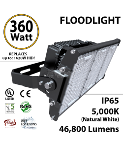 360W LED Floodlight 46800 Lm 5000K IP65 CE SAA UL