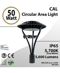 50W LED Landscaping Circular Area Light 5600 Lm 5700K