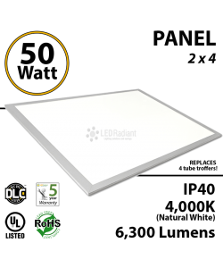 50 Watt LED Suspended Ceiling flat panel light 4000K UL listed 2x4 2*4 FLP Office
