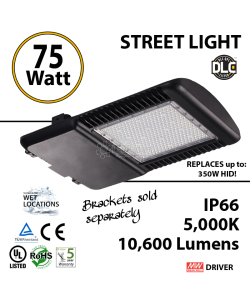 75 Watt LED 350w Halogen Replacement 10600Lm Street lamp outdoors