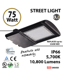 75W LED Street Light Cobra: 10800Lm 5700K UL IP66