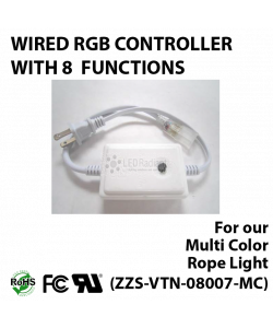 Wired driver for multi color rope light 8 functions
