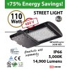 110w LED Street pole lamp Fixture 500 Watt HID Equivalent 480v 5000K
