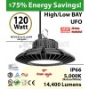 120w LED UFO lamp 550 Watt HPS HID Replacement 5000K 110 Volts