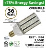 175w Equivalent LED Bulb 36w Corn Light 5000K 3600 Lumens