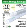 18W LED Tube-1 Sd-4ft-PC 5000K 1800 Lm Non-Dimmable Frosted
