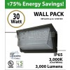 30w LED Wall Pack Light Fixture 250 Watt Metal Halide Equivalent