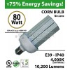 350 Watt LED Replacement Light 80w Corn Bulb 10200Lm 4000K
