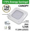 150W LED Canopy Light Ceiling Mount 17200 Lm 5700K IP65 UL