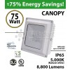 75w LED canopy Light Fixture Replaces 350 Watt Metal Halide hid