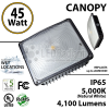 45W LED Canopy Light Ceiling Mount 4100 Lm 5000K IP65 UL