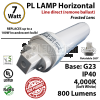 7W PL LED lamp 800Lm 4000K Frosted Direct Line (Remove Ballast) G23 IP40 UL
