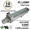 10W PL LED Bulb lamp 1000Lm 6000K G23 IP40 UL. Direct Line (Remove Ballast)