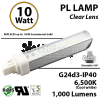 10W PL LED Bulb lamp 1000Lm 6500K G24-d3 IP40 UL.  Direct Line (Remove Ballast)