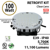 100Watt LED 450w Halogen Replacement 10500 Lumens