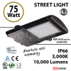 75 Watt LED 350w Halogen Replacement 10000Lm Street lamp outdoors