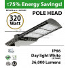320 Watt LED Pole Head 36000Lm equal 1300W MH