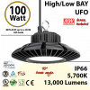 450 Watt Equivalent LED UFO 100w 5700K 13000Lm 110 volts