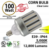Replace a 600W HID with this 100w LED Corn Light Bulb 12800 Lumens