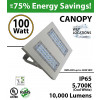 100W LED Canopy Light Ceiling Mount 10000 Lm 5500K IP65 UL