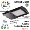 110w LED Street pole lamp Fixture 500 Watt HID Equivalent 120V 4000K