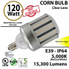 120w LED Corn Bulb 5000K IP64 600 Watt Equivalent 15300 Lumens