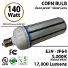 750w HID Light Equivalent 140 Watt LED Corn Bulb 17000Lm 5000K
