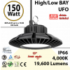 150 Watt LED 700w Halogen Replacement 19600 lumens 110V