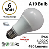 A19 6W 280 Beam Angle 4000K 480 Lm E26 not dimmable