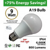 A19 9W 280 Beam Angle 4000K 800 Lm E26 not dimmable