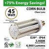 200 Watt HID Equivalent 45w LED Corn Bulb Lamp 4900Lm 5000K