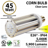 45w LED Corn Bulb 200 Watt HID Equivalent 5900Lm 5000K