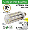 200 Watt HID Equivalent 45w LED Corn Bulb Lamp 5900Lm 3000K