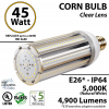 45w LED Corn Bulb 200 Watt HID Equivalent 4900Lm 5000K