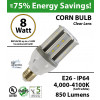 100 Watt Bulbs Replacement Light 8w LED Corn Bulb 850Lm 4,000K