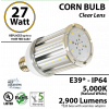 27 Watt LED Corn Bulb 2,900 Lm 5,000K IP64 Edison E26 / E39* Mogul Base UL