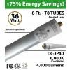 36 W Replace 8ft Fluorescent tube light 4000Lm LED T8 Bulb 6000K