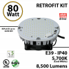 350Watt HID Equivalent 80w LED retrofit kit luminaire 8400 Lumens