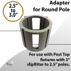 Adaptor for top of post from 3 inch to 2.5 inch