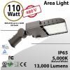 LED Area Light 110W 13000 Lumen 5000K 480V