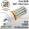 LED Corn Bulb 120W 15500Lm 5000K E39 IP64 ETL DLC