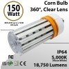 LED Corn Bulb 150W 18750Lm 5000K E39 IP64 ETL DLC