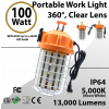 Temporary Portable Work Light 100W 13000Lm 5000K IP64 ETL