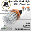 Temp Construction Light 80W 10000Lm 5000K IP64 ETL
