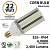22 Watt LED Corn Bulb Lamp light 6000K E26 Incandescent Replacement IP64 Edison Retrofit UL