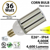 36 Watt LED Corn Bulb 175w Replacement Light 4000K