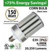 LED Bulb 750 Watt Equivalent 150w Corn Light 20250 Lumens 6,000K