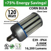 LED Corn Cob Light 600 Watt Equivalent 120w 16,200 Lumens 5,000K